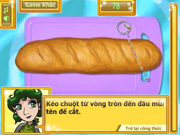 Choi game Banh mi chien bo