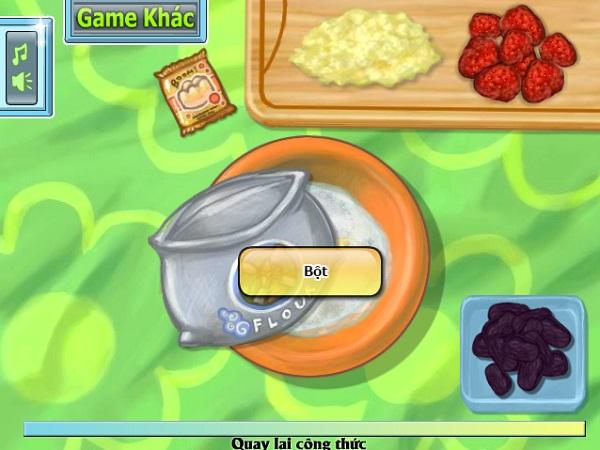 game Banh cupcake dua hau 24h