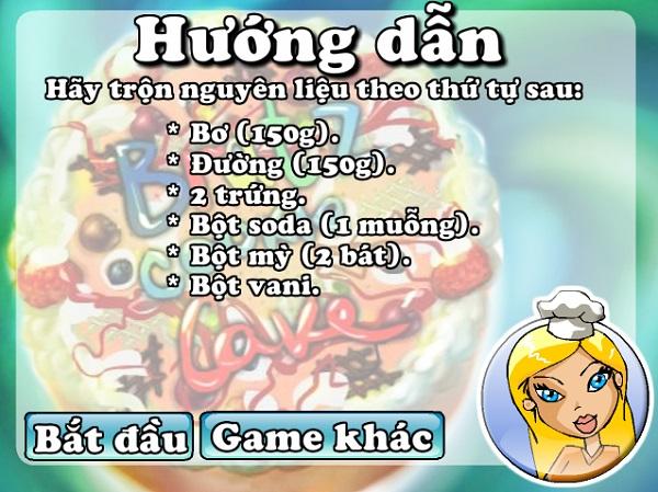 game Banh kem nhan dau phong hinh anh 2