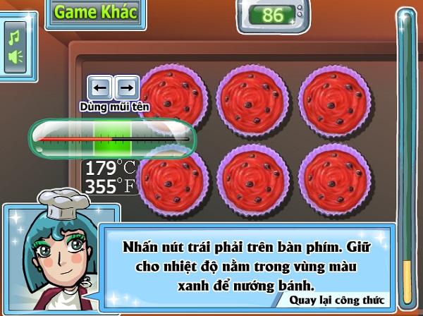 game Lam banh cupcake dua hau