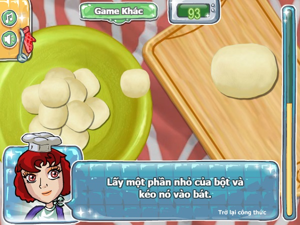 game nau an Banh donut socola