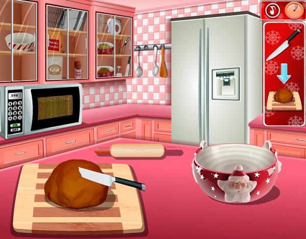 Game Lam banh gato hinh ngoi nha socola