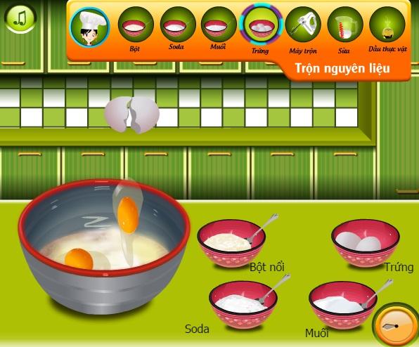 game Banh kem socola hoa anh dao