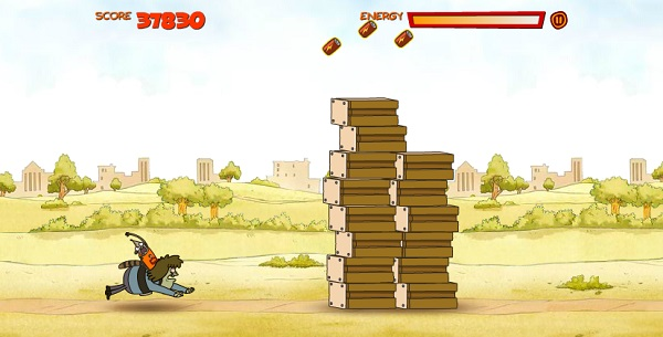 game Chuong trinh thuong nhat rigby chay tron hinh anh