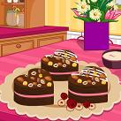 Làm bánh socola tình yêu