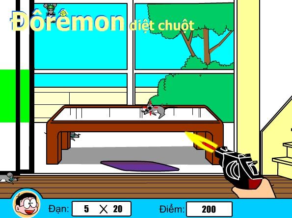 Game Doremon ban sung hinh anh