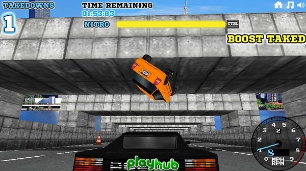 game Dua xe canh sat giao thong