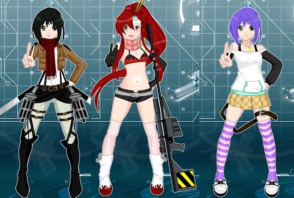 game Thoi trang anime dress up hinh anh