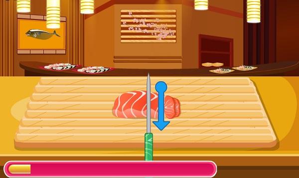 game Hoc lam sushi ca hoi