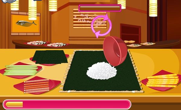 game Hoc lam sushi ngon