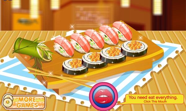 game Hoc lam sushi viet nam