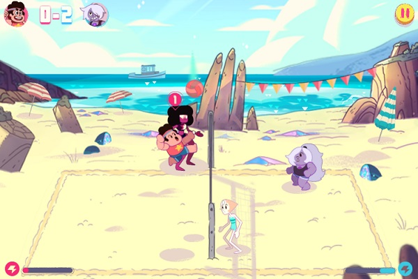 game Steven Universe danh bong chuyen hoat hinh