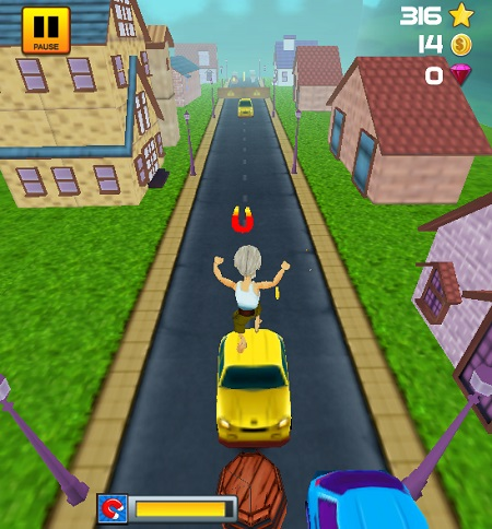 game Chay di ong noi grandpa run 3d