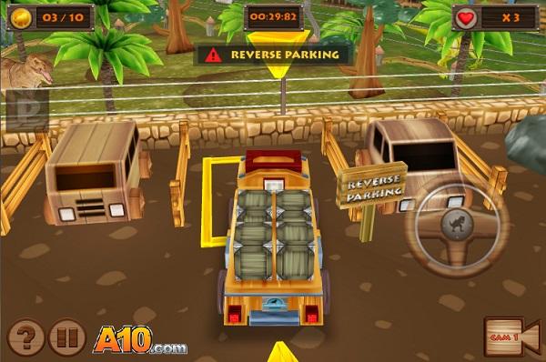 game Do xe trong cong vien khung long 3d