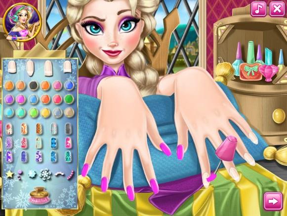 game Lam mong tay cho cong chua Elsa