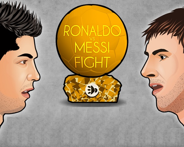 game Ronaldo vs Messi fight
