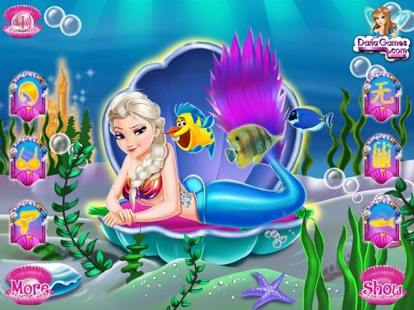 Choi game Nang tien ca Elsa