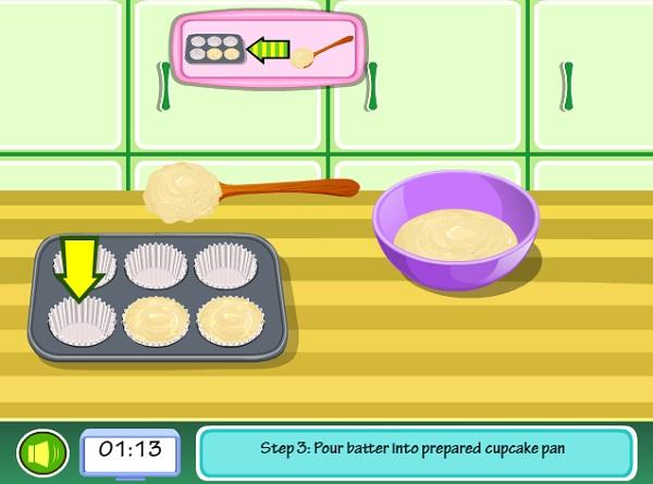 game Lam banh cupcake hao hang 24h
