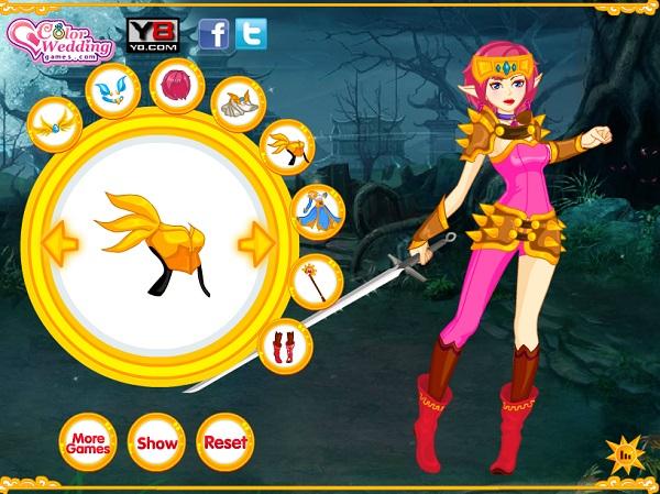 game Nu chien binh xinh dep online 24h y8