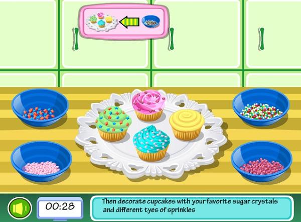 game Tap lam banh cupcake socola dau