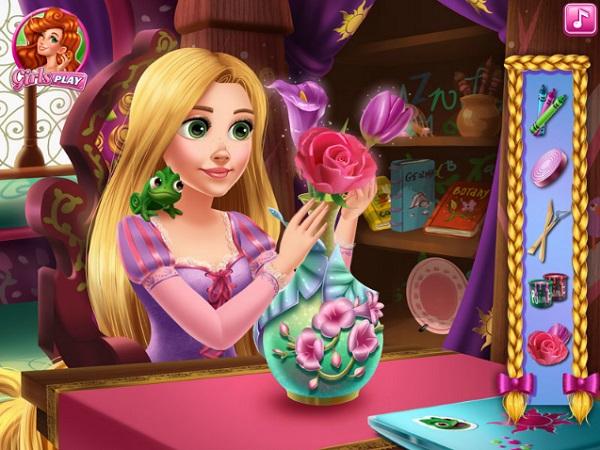 game Cong chua toc may Rapunzel lam do thu cong