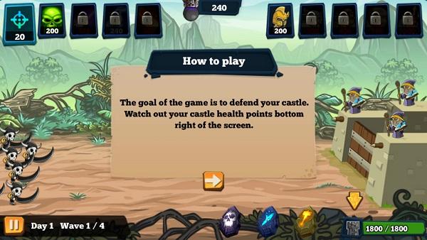 game Doi quan quai vat Monster hordes