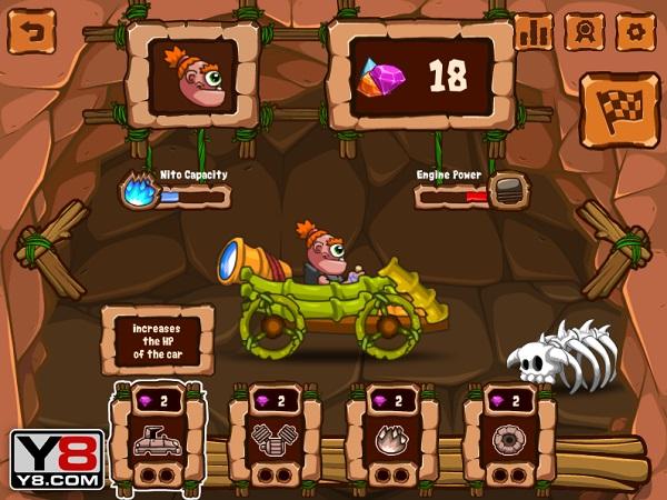 game Dua xe thoi nguyen thuy stone age racing