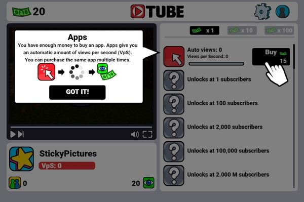 game Kiem tien youtube online