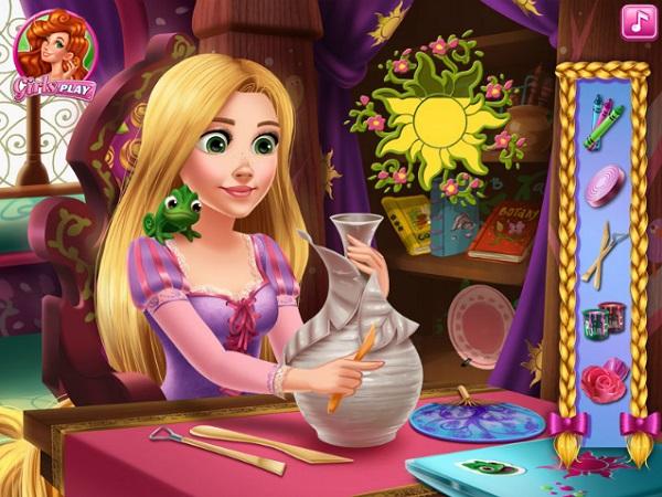 game Rapunzel lam do thu cong crafts