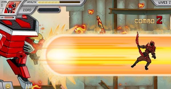 game Sieu nhan than kiem 3 power rangers samurai