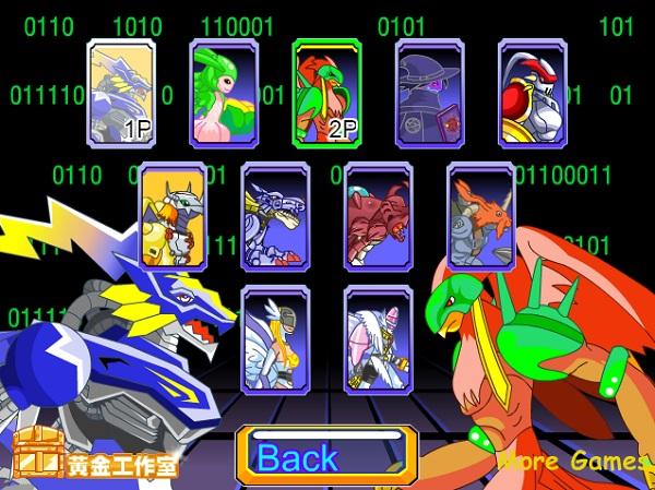 game Digimon vs Zombies 2 nguoi
