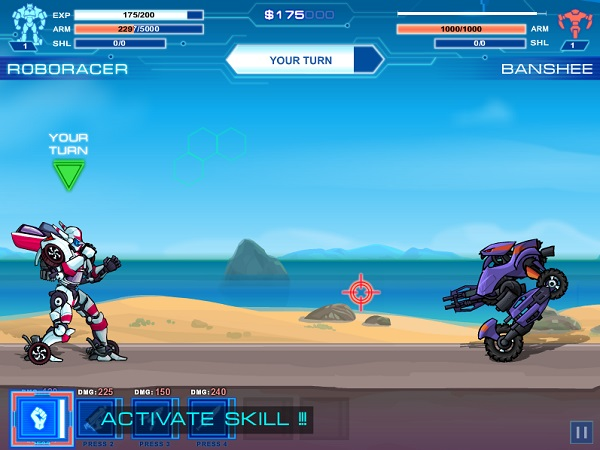 game Dua xe oto robot bien hinh 2