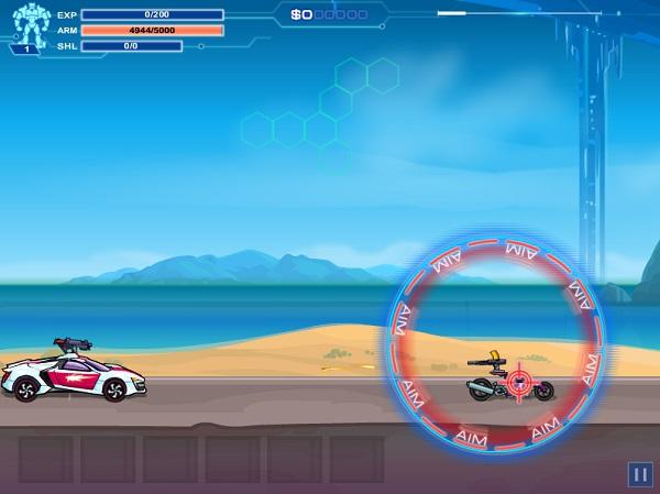 game Dua xe robot bien hinh 2 Robo racing 2