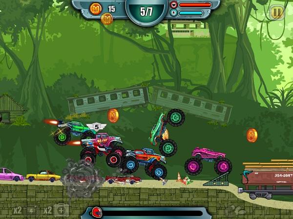 game Dua xe tai quai vat 2