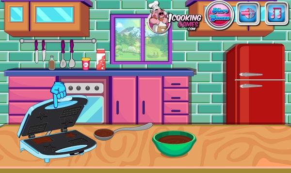 game hoc Lam banh sandwich kep kem