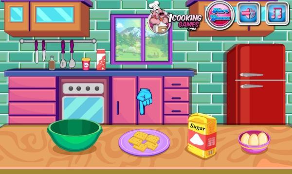 game Lam banh sandwich kep kem va keo