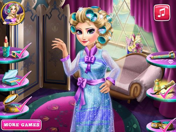 game lam dep toan than cho cong chua Elsa
