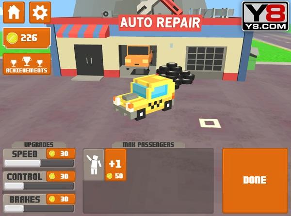 game Taxi thanh pho 3D cho khach