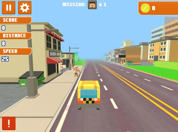 game Taxi thanh pho 3D y8