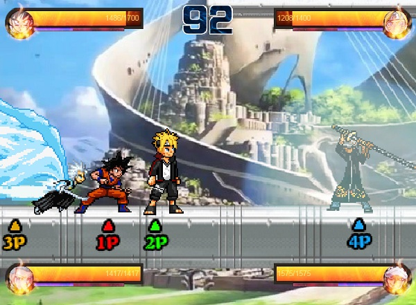 Game Anime battle 3.8 danh nhau