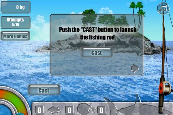 game Cau ca map khong lo