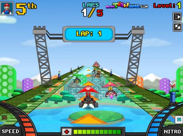 game Dua xe may bay Mario online