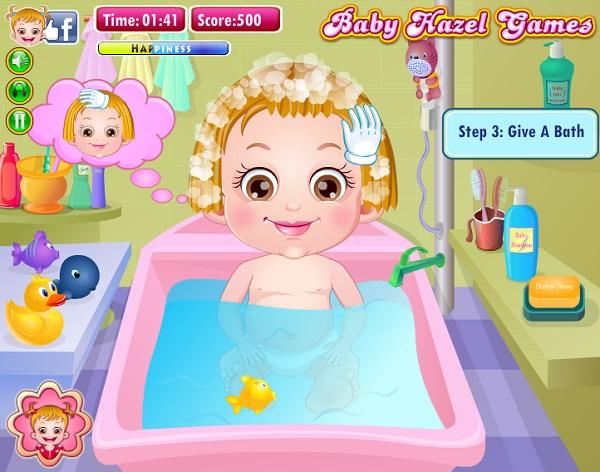 game Lam toc tam cho be baby Hazel
