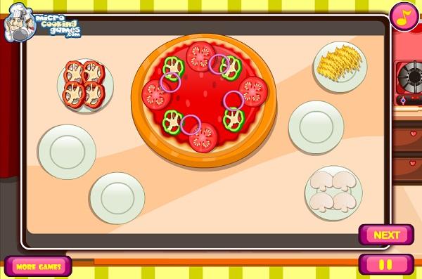 game Vua pizza thap cam xuc xich tom socola