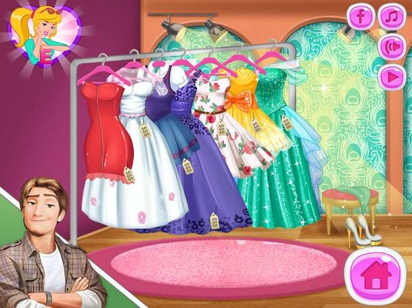 game bup be Barbie chon ban trai