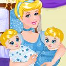 Công chúa lọ lem sinh em bé