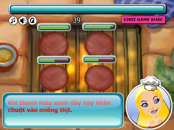 game Lam banh hamburger kep thit bo de ban cho khach