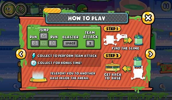 game Spongebob tran chien bun lay capture the slime