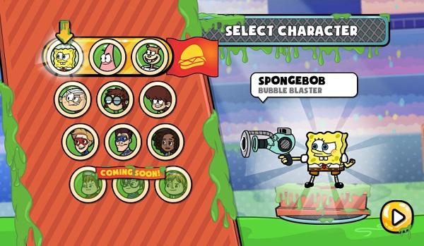 game Spongebob tran chien bun lay online