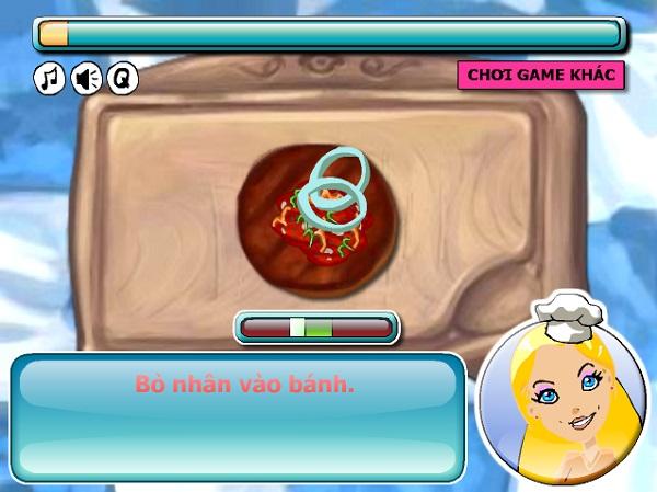 game hoc tap lam banh hamburger kep thit bo